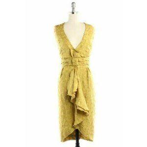 Anthropologie Quillaree Silk Yellow Dress